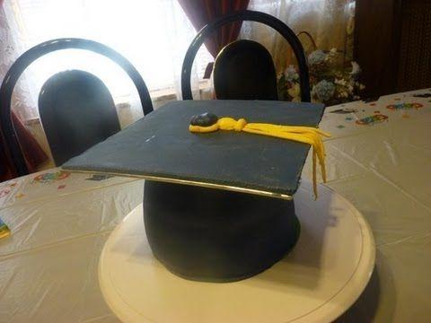 Pin By Antonietta Campanaro On How To Tutorials Cap Cake Graduation Cap Cake Graduation Cap Cake Topper
