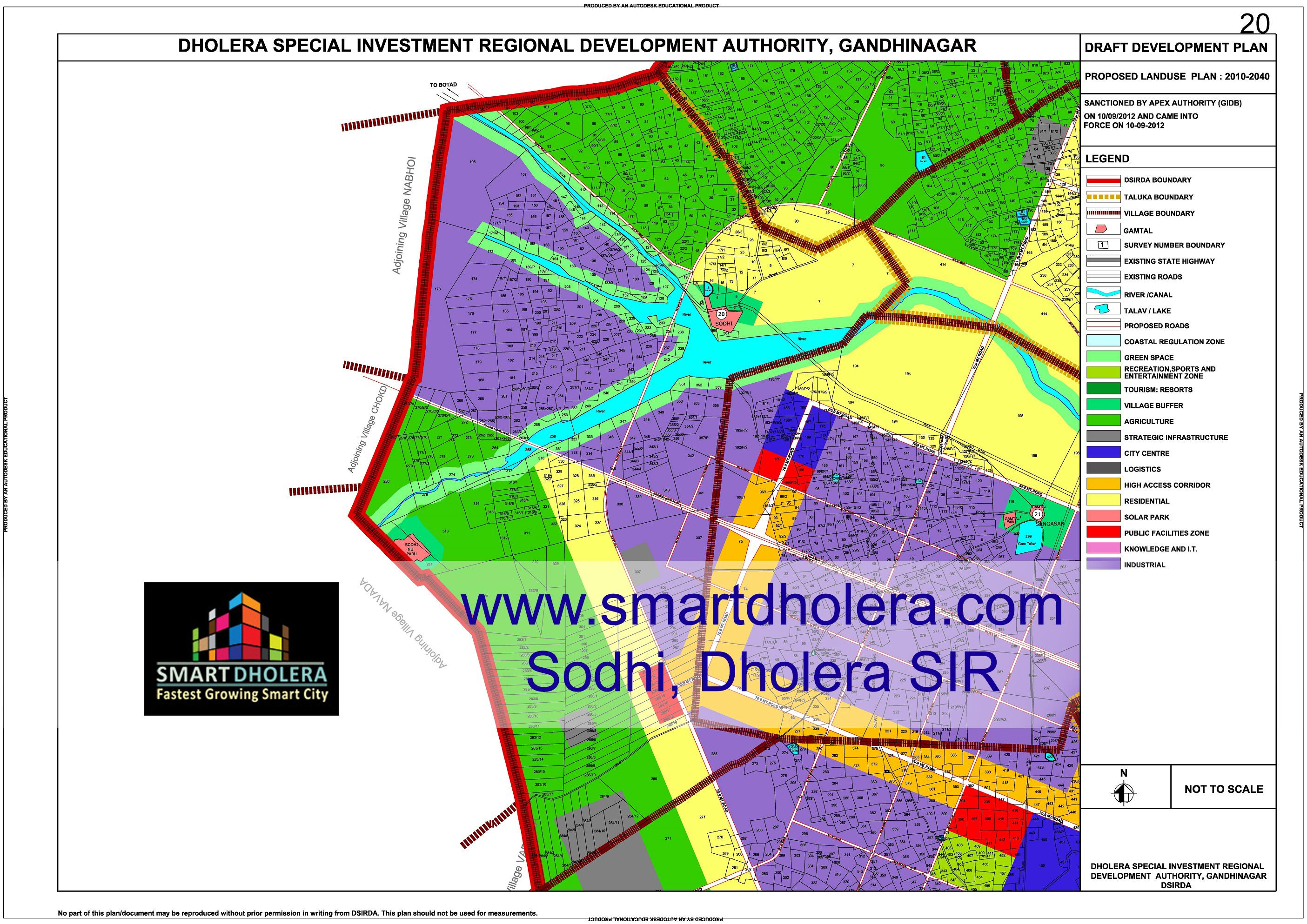Map Of Sodhi Dholera SIR Map Of Dholera SIR Pinterest Smart - Plot cities on a map