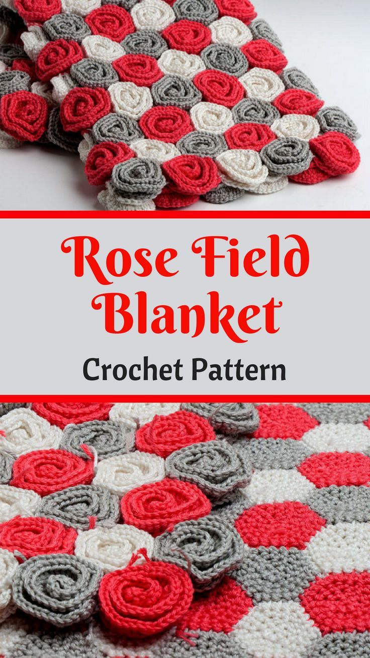 This crocheted rose blanket is so beautiful! | crochet pattern ...