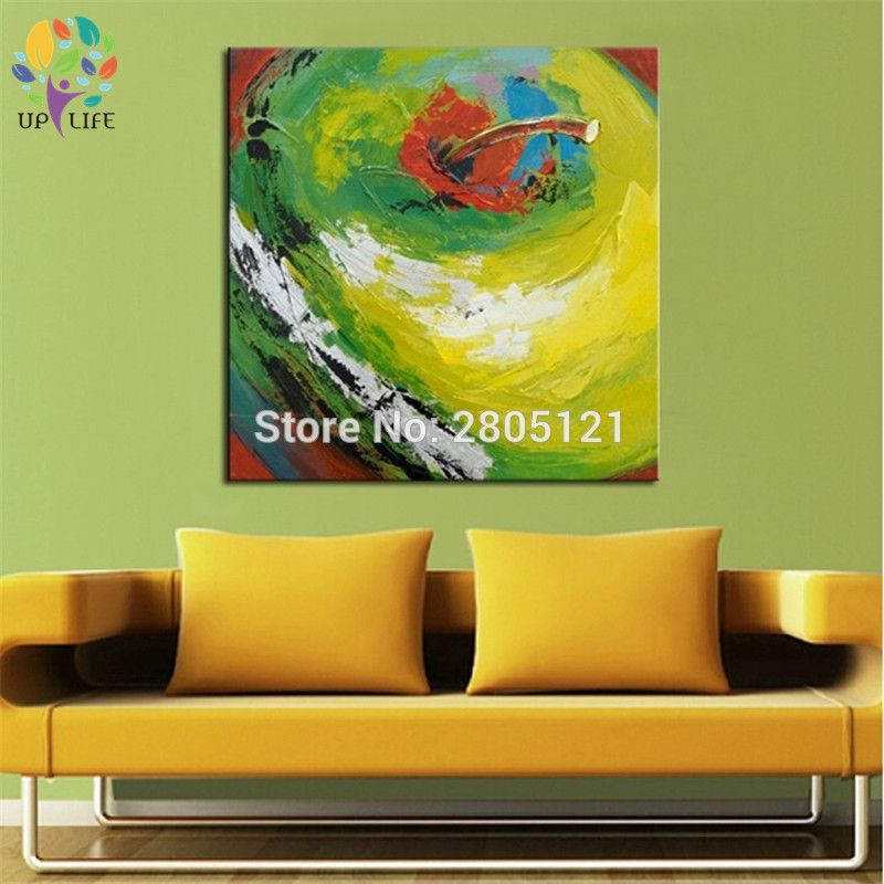 100% handpainted red apple canvas art green apple the still life oil ...