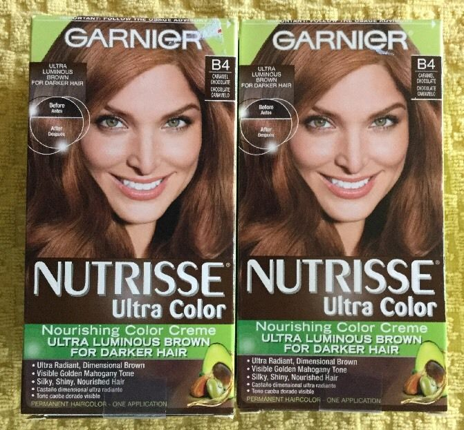 Garnier Nutrisse Ultra Color Nourishing Creme B4 Caramel Chocolate Lot X 2 Ebay