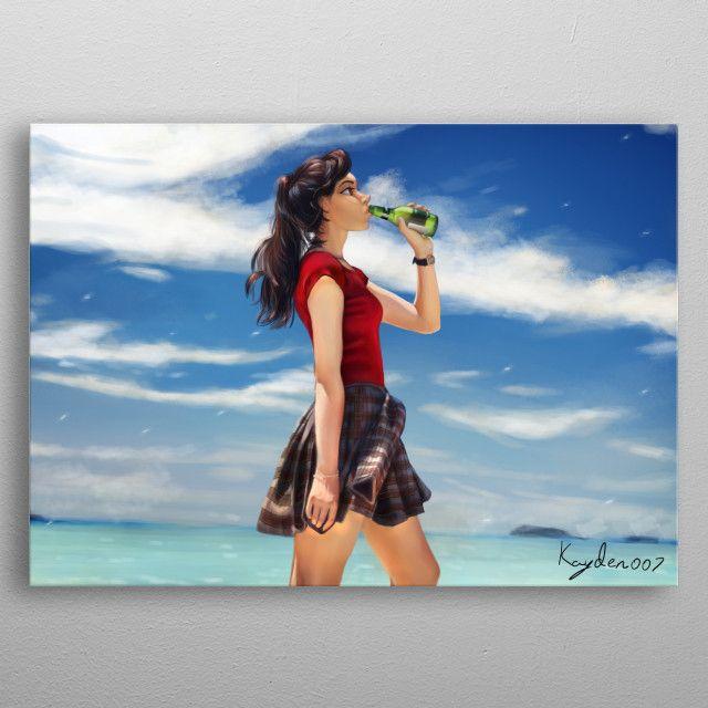 Beach by Kayden James | metal posters - Displate | Displate thumbnail