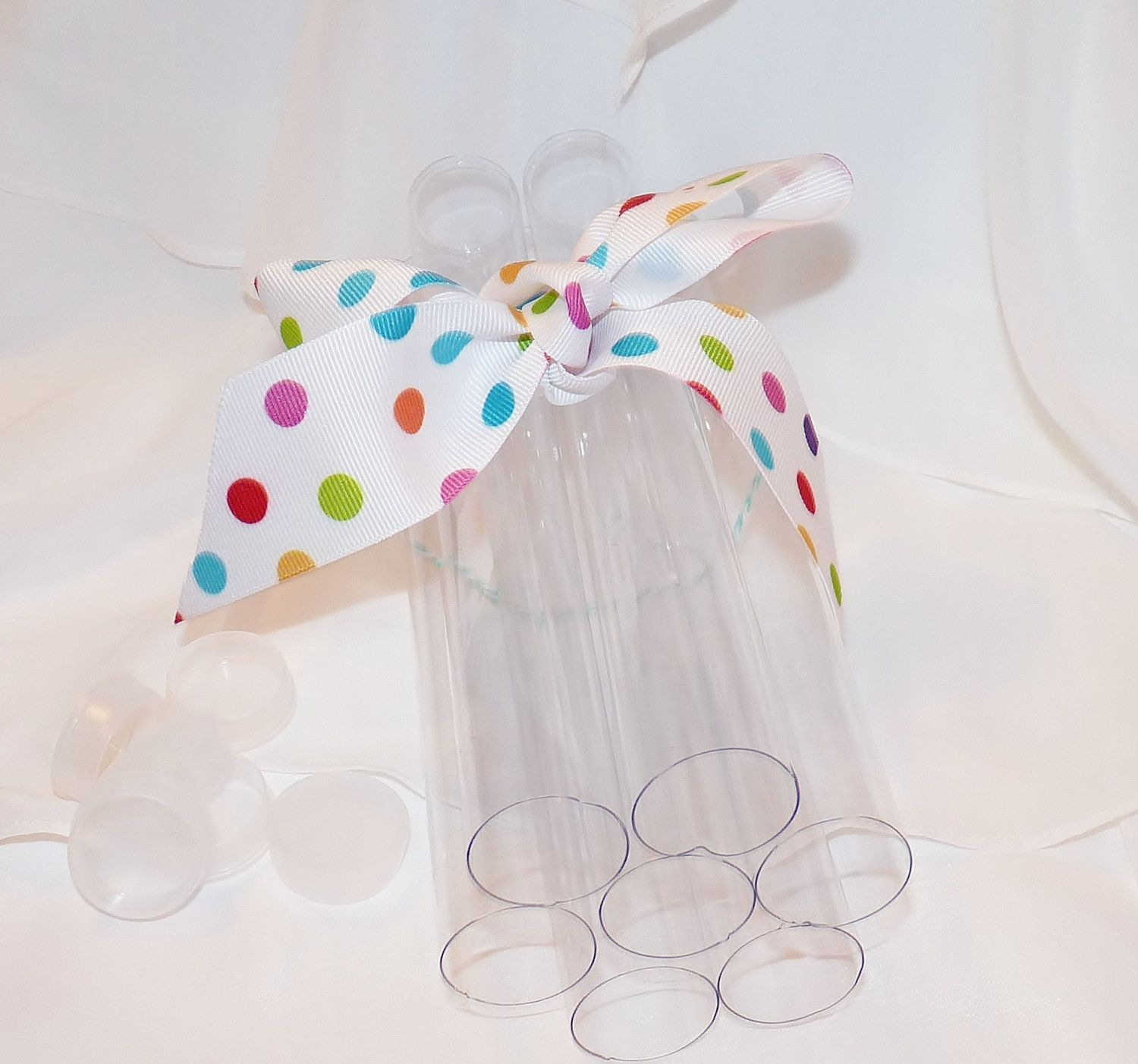 CLEAR PlASTIC TUBES -CaNdY CLEAR PlaStiC FaVor Tubes (set of 10 ...