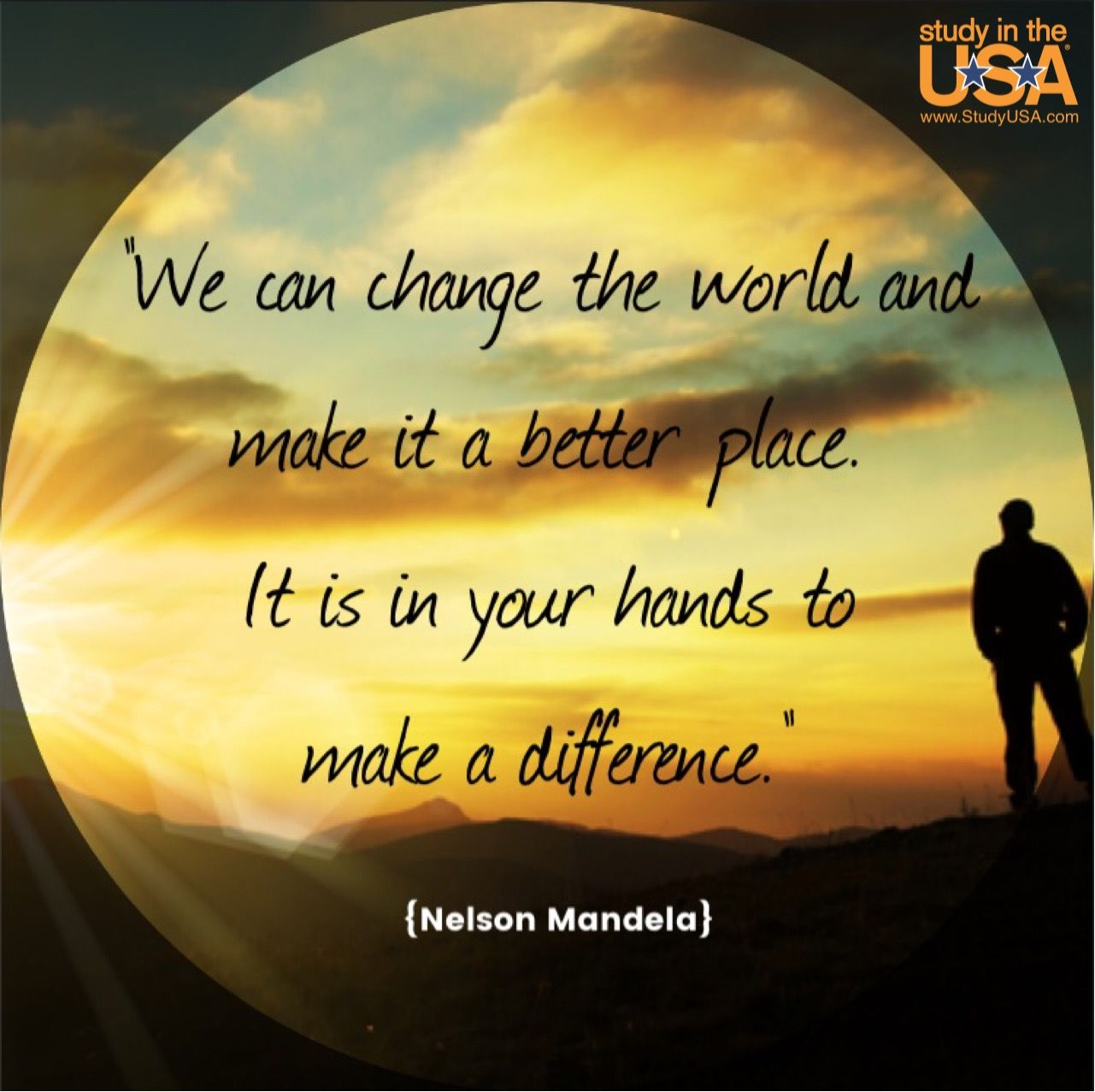 Making A Difference Quotes We Can Change The World And Make It A Better Placeit Is In Your