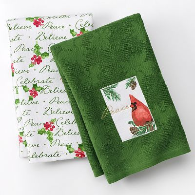 St Nicholas Square Cardinal 2 Pk Kitchen Towels With Images