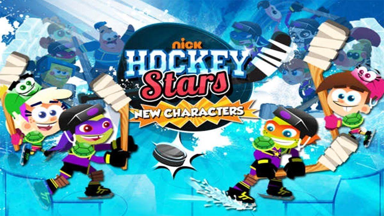 Nick Hockey Stars Ninja Turtles vs Spongebob