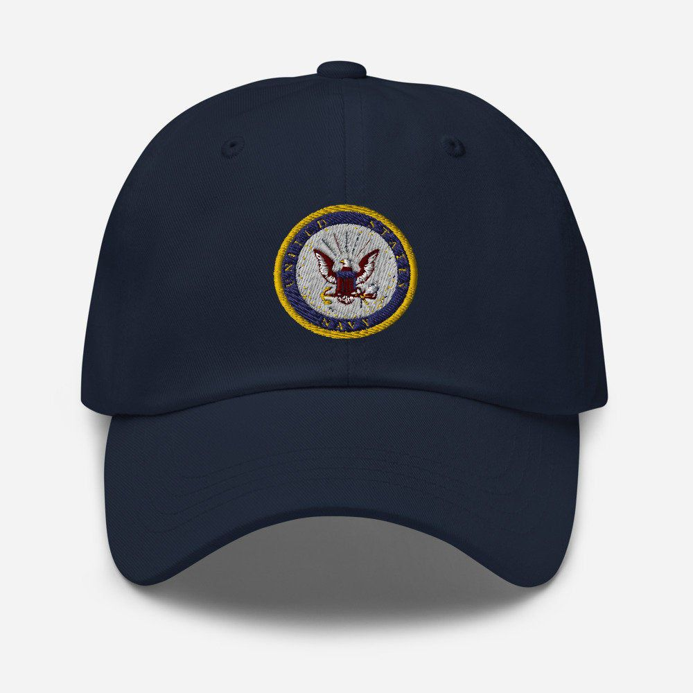 Excited To Share The Latest Addition To My Etsy Shop U S Navy Insignia Baseball Cap Military Logo Dad Hat Usnavylogo In 2021 Dad Hats Military Logo Navy Insignia