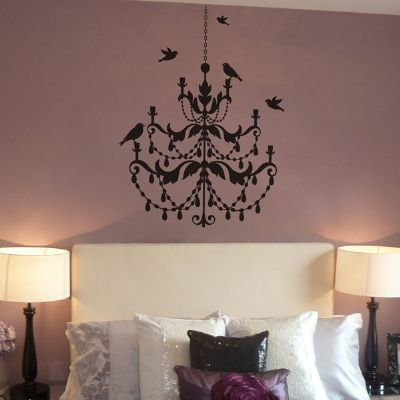 chandelier wall sticker project girls bath and rooms