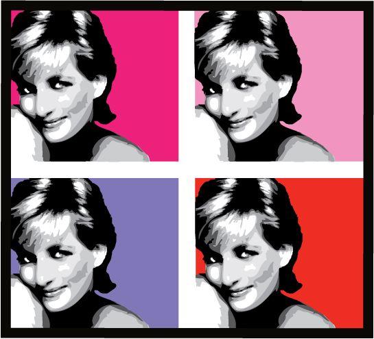 Princess Diana Pop Art Diana Lady Diana Princess Diana