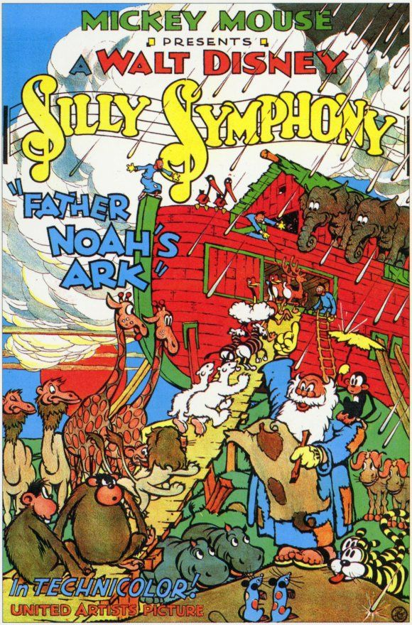 Father Noah's Ark is a 1933 Silly Symphony Disney movie short cartoon poster