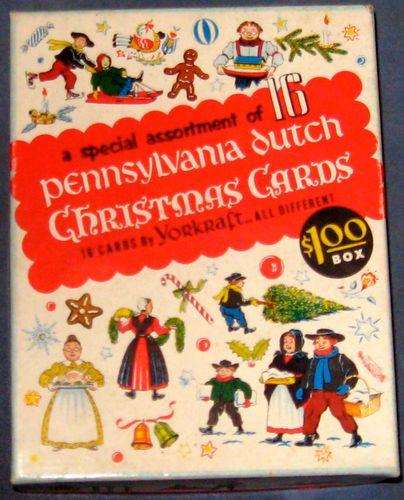 Vintage Pennsylvania Dutch Christmas Cards   Pennsylvania Dutch ...