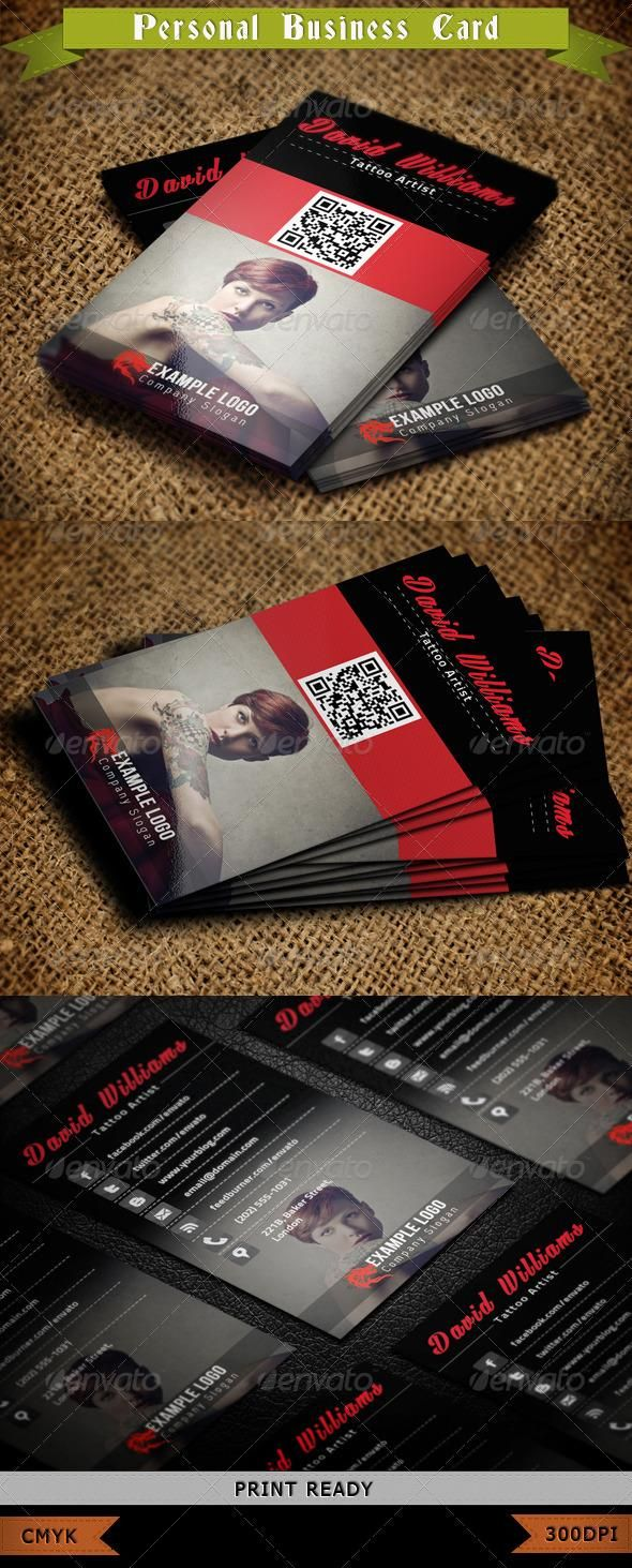 Tattoo Business Card | Pinterest | Business cards, Business and Card ...
