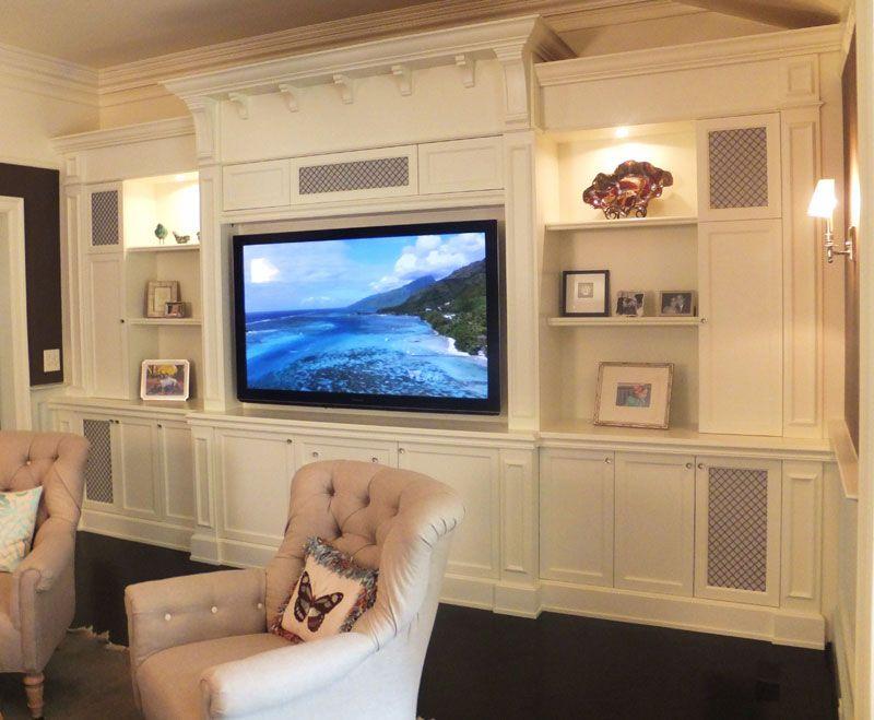 Shaker Cabinets With Decorative Corbels Brackets Amp Wire Mesh Speakers Doors Kitchen Design