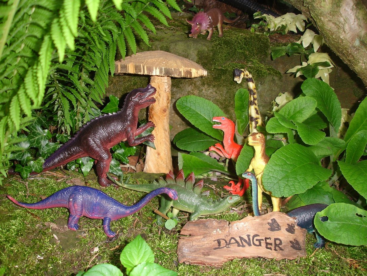 Garden Ideas For Kids To Make dinosaur garden | do dinasaurs live here? | pinterest | dinosaur