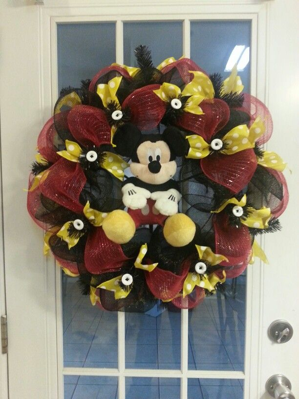 Mickey Mouse deco mesh wreath Mickey Mouse