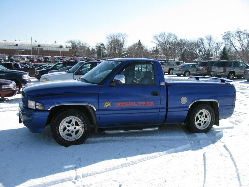 Dodge Ram 1996 Indy 500 Offical Truck Dodge Trucks Ram Dodge Pickup Sport Truck