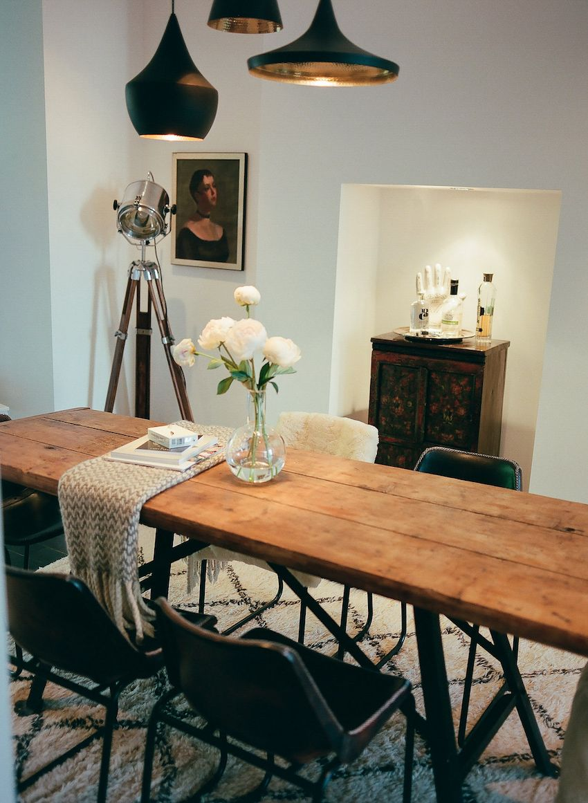 Dark Rustic Dining Room A Collected Sanctuary In Notting Hill That S All About Comfort Design Sponge Flat Decor Rustic Dining Room Home Design Decor