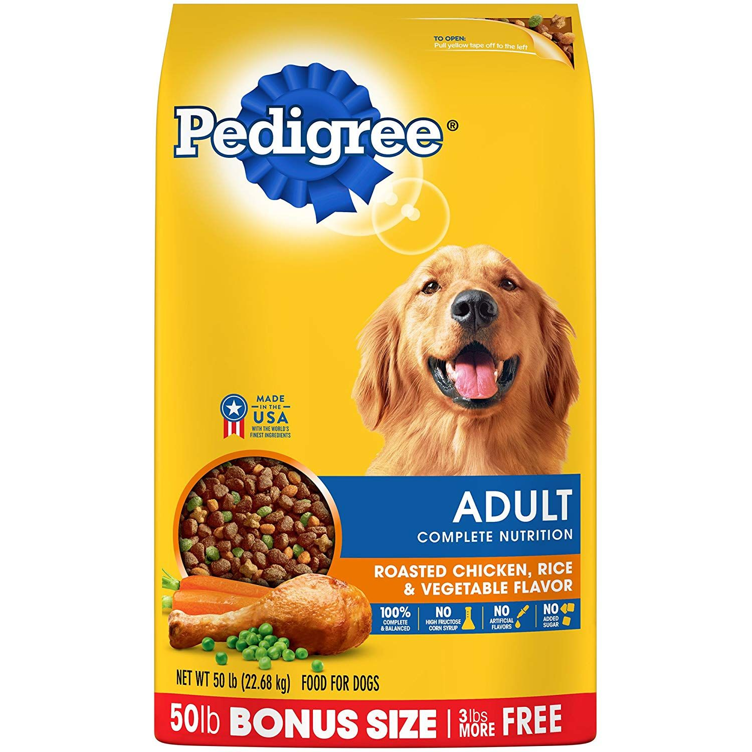 Pedigree Adult Complete Nutrition Roasted Chicken Rice And
