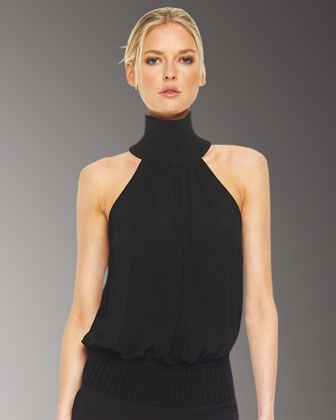 Jersey Halter Top by Michael Kors at Neiman Marcus....I hope Shawn is checking on here!