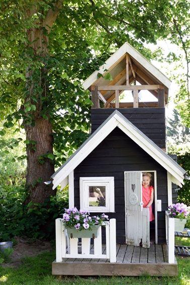 playhouse Outside Pinterest Casitas, Casa jardin y Casas - casitas de jardin para nios