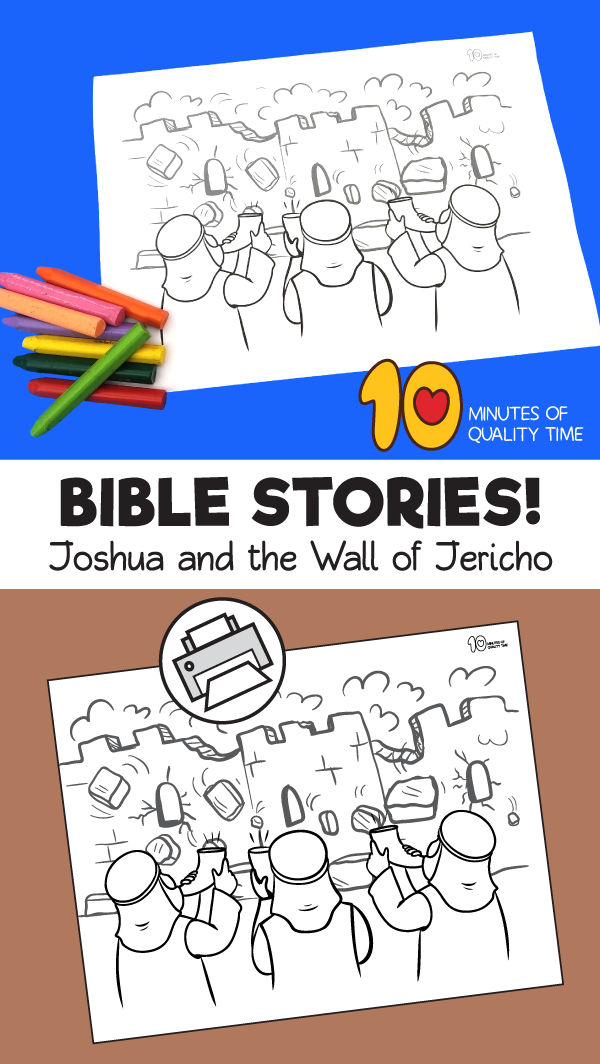 joshua and jericho coloring page | Sunday school crafts ...