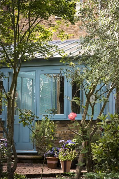 Dix blue front door an inspirational image from farrow and - Farrow and ball exterior paint ideas ...