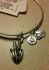 Alex And Ani Retired Sacred Garden Cattail Bangle Bracelet Rare