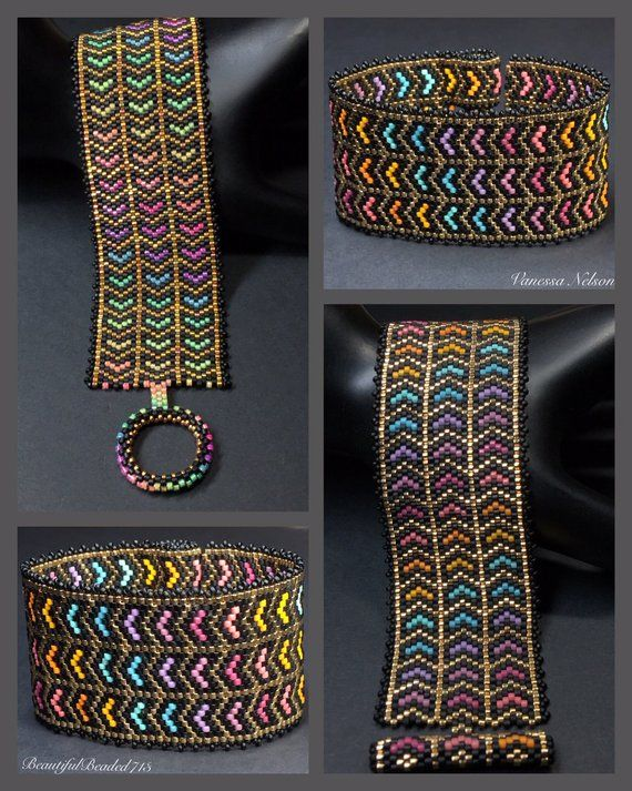 PATTERN Single Peyote Diagonal Arrows Bracelet | Etsy #craftstosell