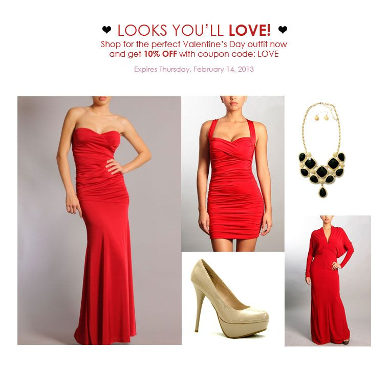 Shop FashionJunkee.com for the Perfect Valentine's Day outfit! www.fashionjunkee.com #fashionjunkeevalentinesday