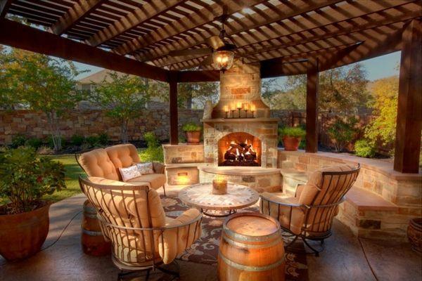 best gartenkamin bauen ideen terrasse photos - house design ideas ...