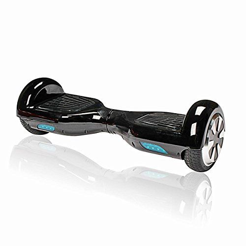 Electric Skateboard Twowheel Smart Self Balancing Scooters Drifting Board with LED Lightblack
