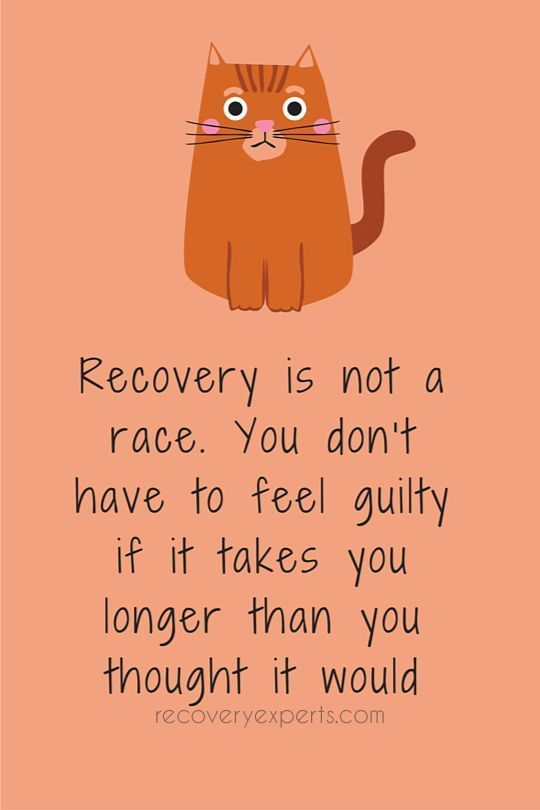 Be Good To Yourself on The Road To Recovery