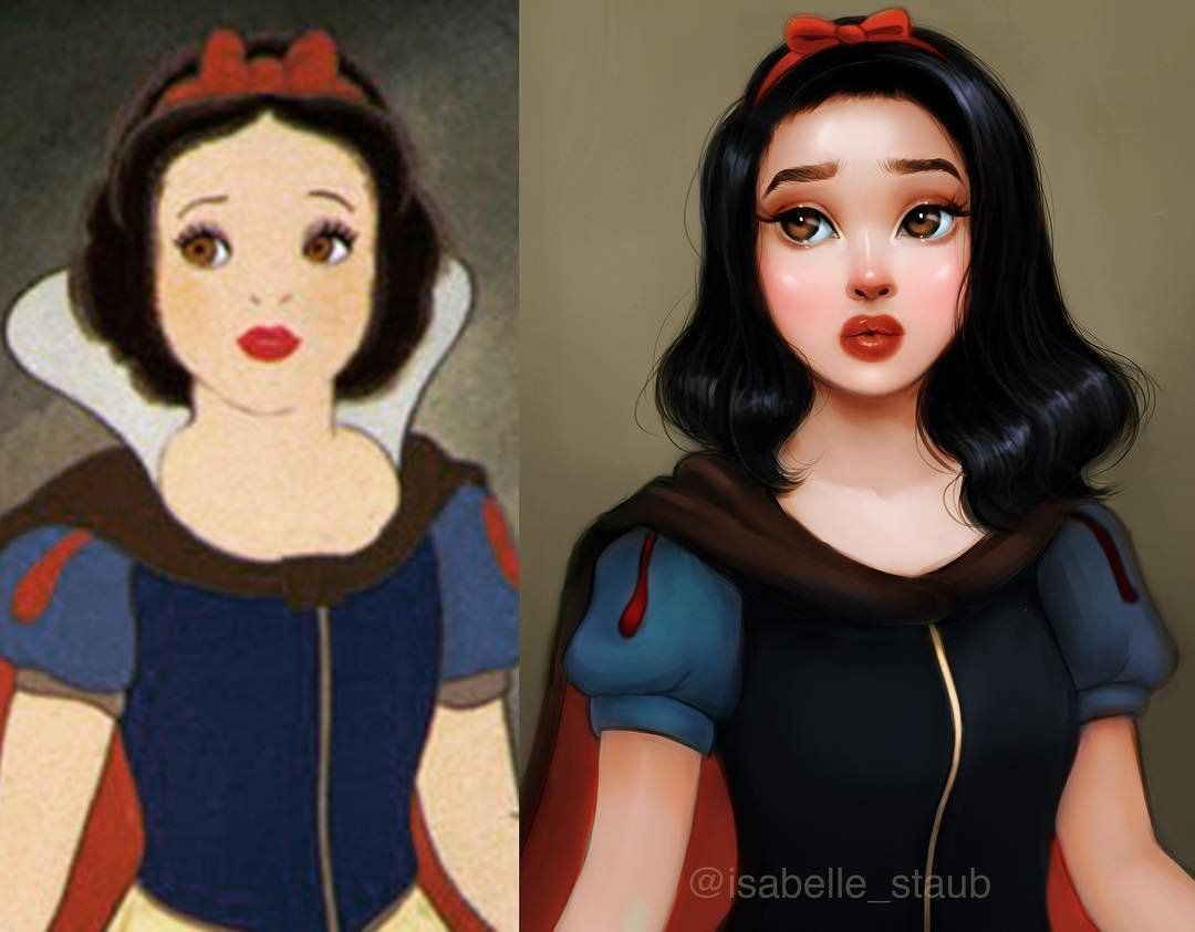 Snow White is ready to join Kat Von D's artistry collective. #snowwhite
