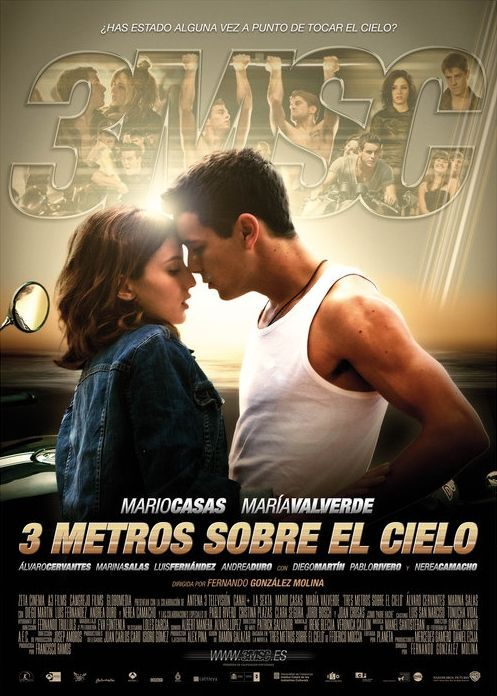 Tres Metros Sobre El Cielo Movie Poster Cartel 2 Teenage Movie Heaven Movie Romantic Movies