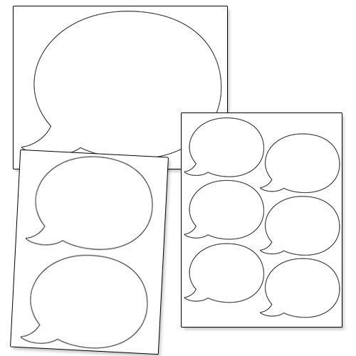 Printable Speech Bubble Shapes from PrintableTreats.com