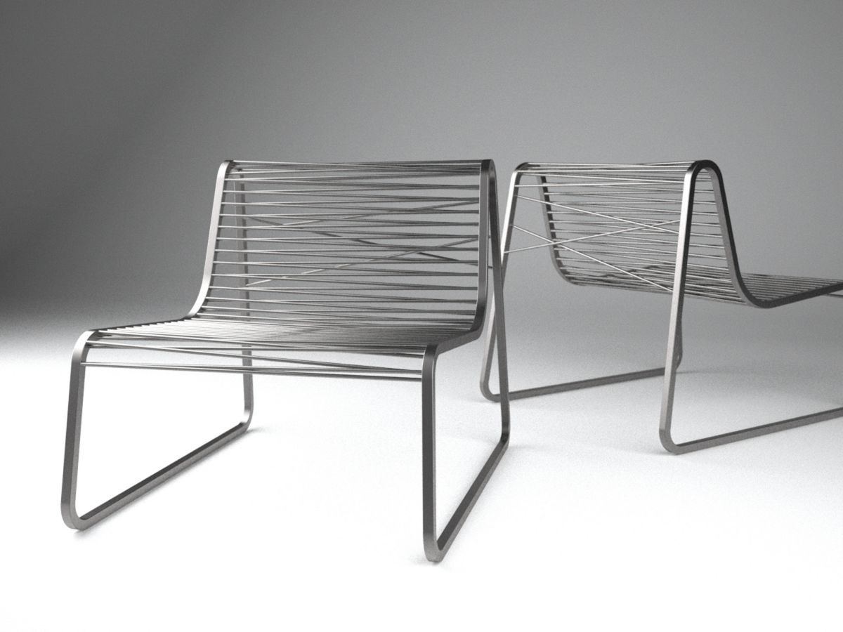 Simple Contemporary Outdoor Lounge Chair Idea in Silver Splash