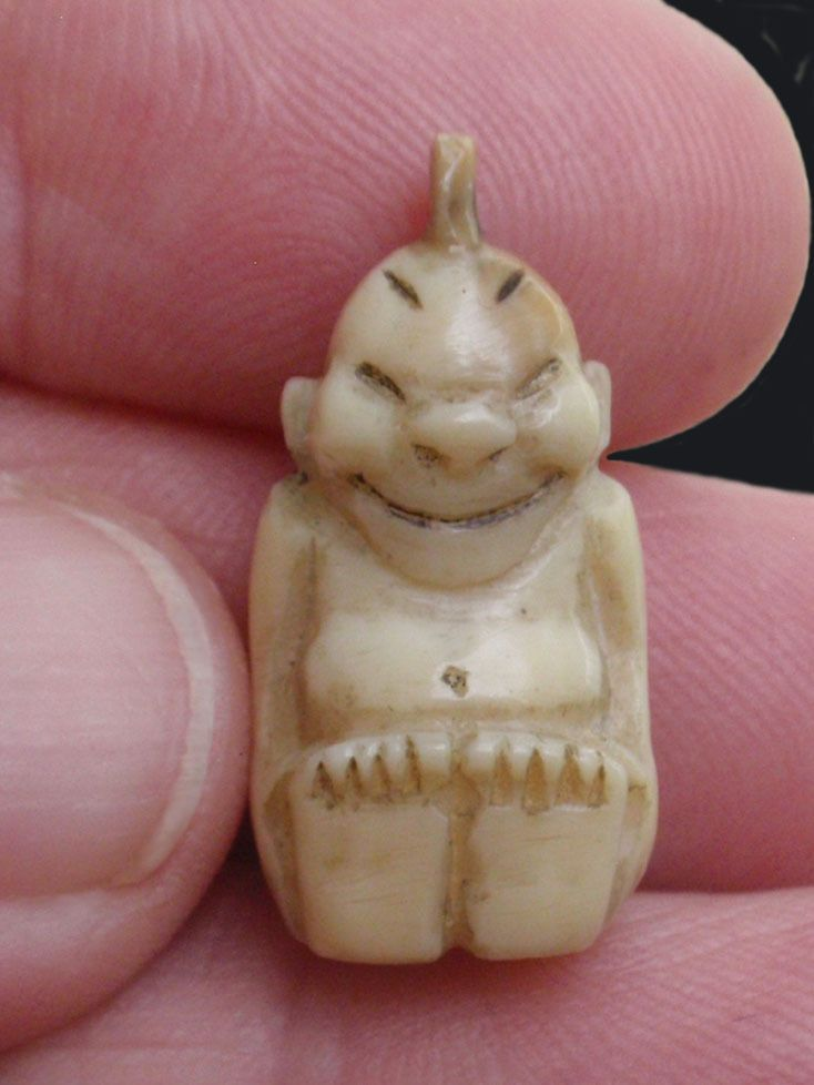 antique Eskimo Inuit Alaskan buffalo bone miniature ...