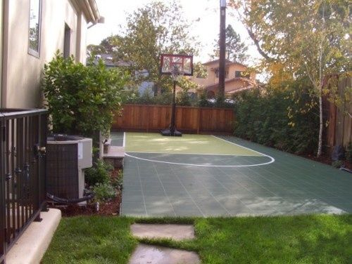 Sport Court For The Side Yard Outdoor Pinterest Backyard Backyard Basketball Basketball Court Backyard