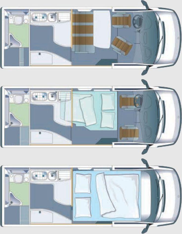 Airstream Sprinter Van Floor Plan   Motorhomes   Pinterest ...