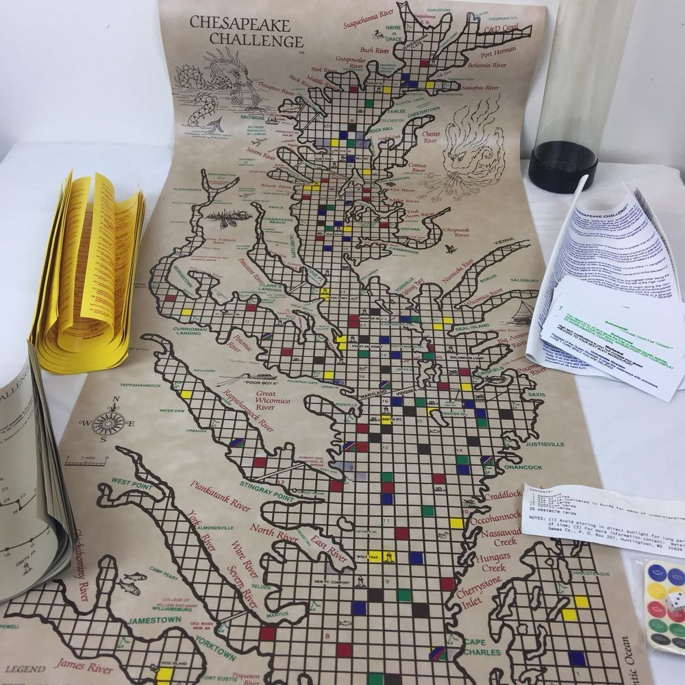 Vintage Chesapeake Bay Challenge Civil War Strategy Board