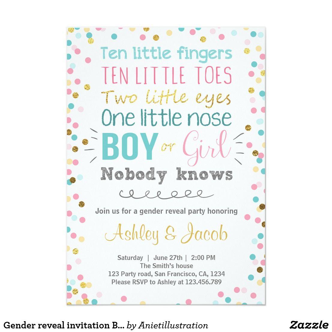 Gender reveal invitation Baby shower Boy or Girl | Invitations baby ...