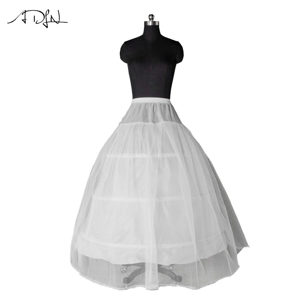 ADLN Hot Selling 3 Hoop Ball Gown Petticoat Wedding Dress Underskirt ...