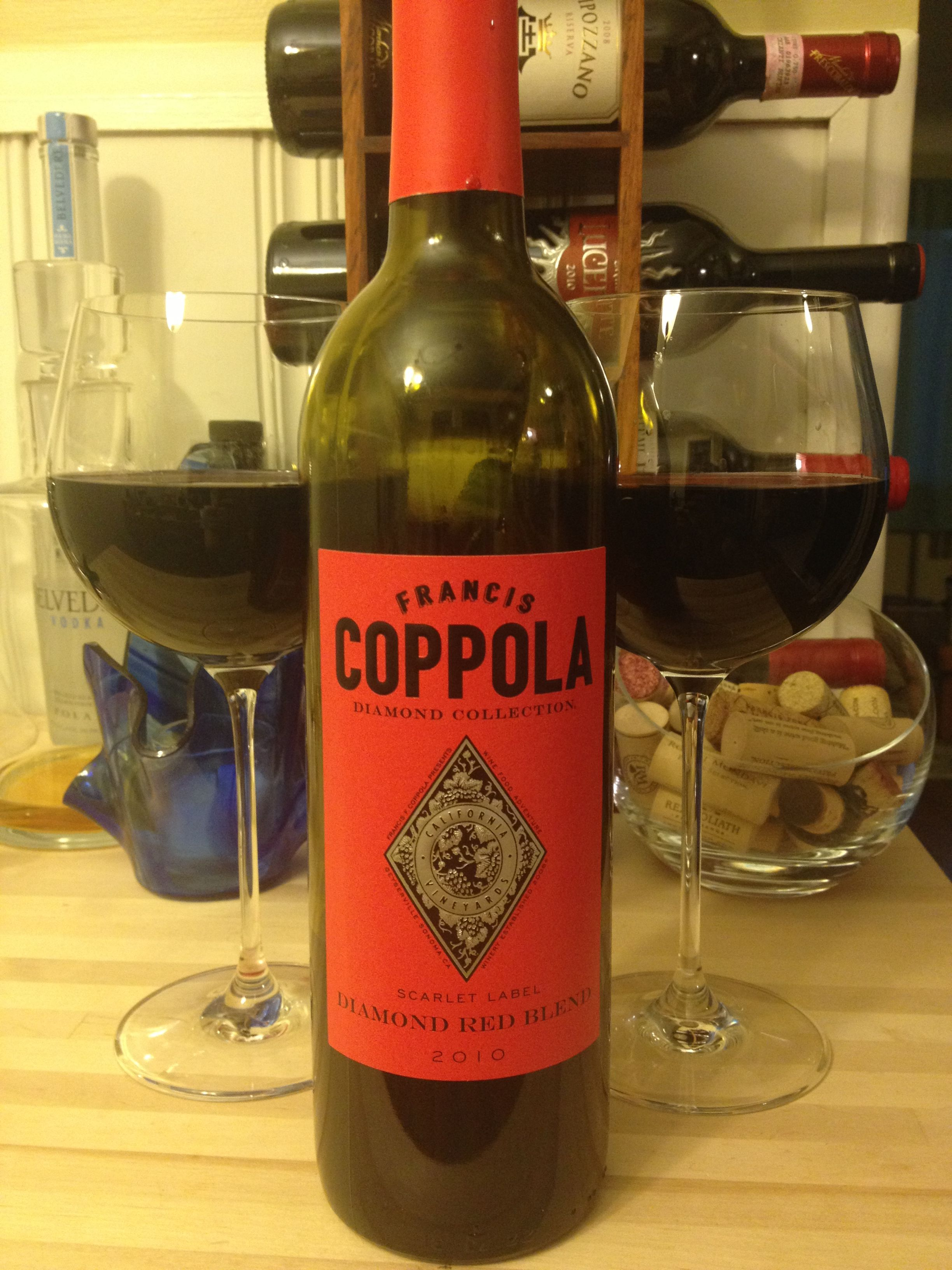 2010 Coppola Diamond Red Blend Wine Bottle Red 2010 Red