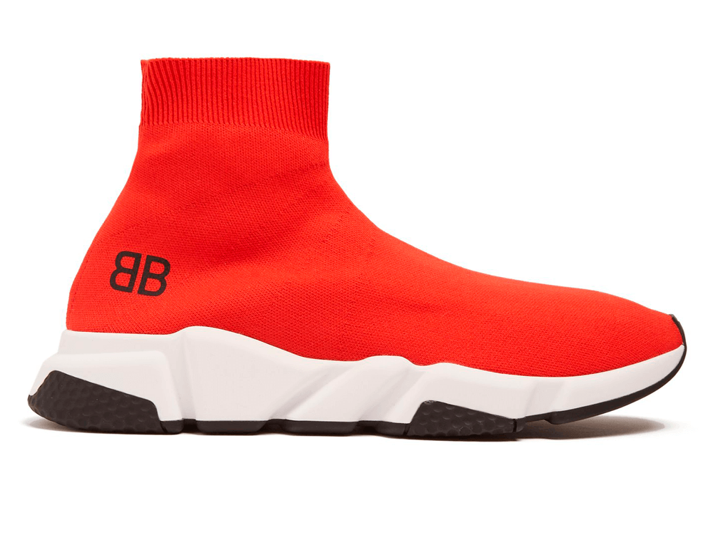 Balenciaga Speed Trainers Mid Red Free