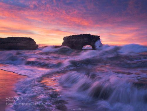 Turbulence by fzaidi  BlueRaspberry Burn California Clouds Escaype EscaypeDay Natural Bridges Ocean Sunrise Sunset beac be