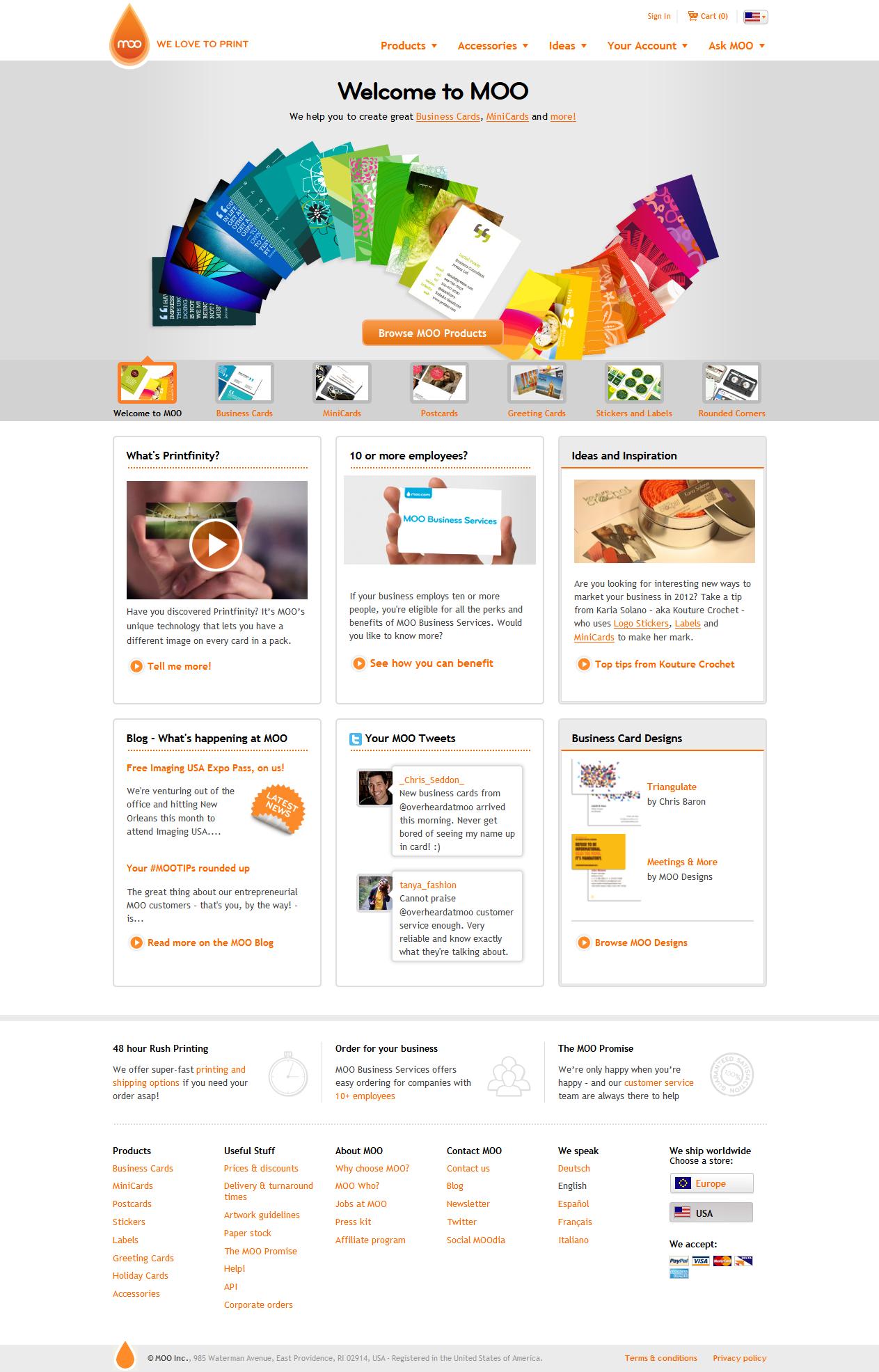 Moo Com Minus Duplicate Features Row Websitedesign Webdesign Layout Website Design Website Design Inspiration Printing Business