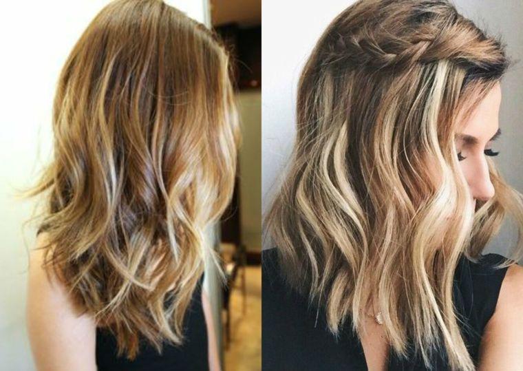 capelli-ondulati-taglio-medio-colore-castano-chiaro-ciocche-bionde-dorate.  Cerca questo Pin e molto altro su capelli di ... cca5e6a077e9
