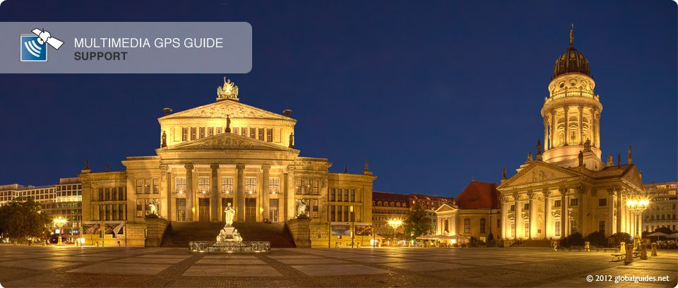 Gendarmenmarkt in the city centre of Berlin, with Konzerthaus in the middle and the French and German Domes on both sides