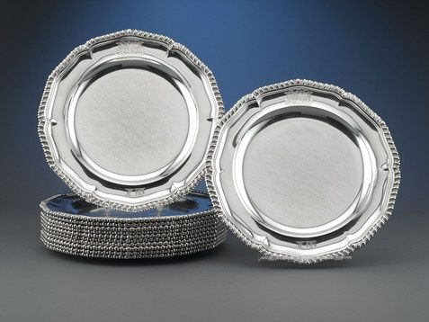 Paul Storr Silver Dinner Plates: A highly important set of 12 silver dinner plates by master silversmith Paul Storr, made for the wealthiest commoner in England, Charles Lyne-Stephens. Description from pinterest.com. I searched for this on bing.com/images