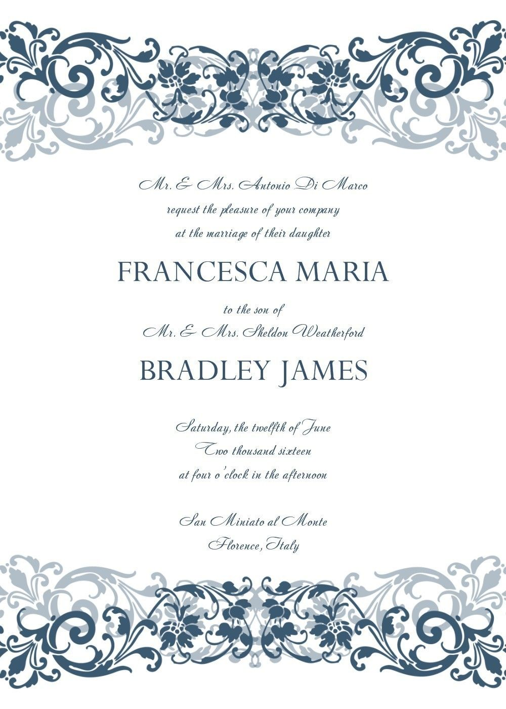 invitation templates word free